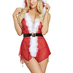 Idea Regalo - Buon Natale, Zoloimx Donne Sexy Pizzo Vestito Di Natale Più Dimensioni Donne Sexy Mussola Piccola Campana Spice Suit Lingerie, Regalo Di Natale
