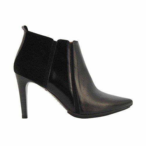 HI51722 bottes en cuir et en daim noir Hispanitas Noir
