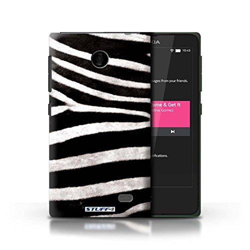 Kobalt® Imprimé Etui / Coque pour Nokia X / Chien conception / Série Motif Fourrure Animale Zèbre