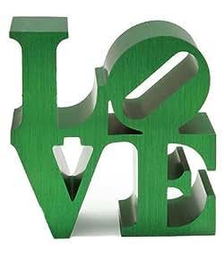 """Presse papier """"Love"""" vert de Robert Indiana"""