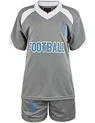 Enfants 2 Pièces T-Shirt & Ensemble Short Football imprimé Garçon Fille Kit De Sports