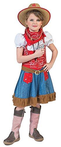 Cowgirl Arizona Kostüm für Mädchen Gr. 128 - Tolles Wild West Kostüm für Kinder