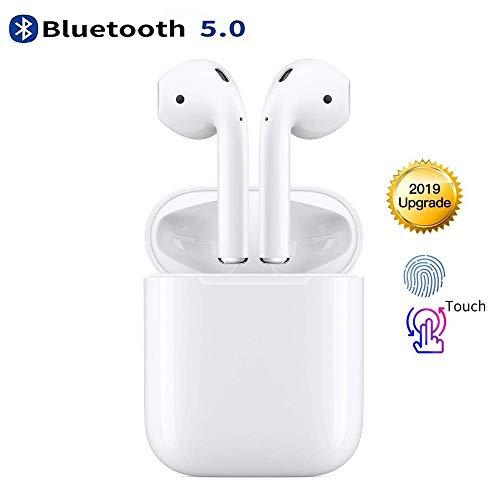 Cuffie Bluetooth 5.0, Auricolari Wireless 24h Playtime Con Scatola di Ricarica, 3D Stereo con HD Mic Auricolari Senza Fili Cuffie in-Ear per bassi profondi per Apple AirPods Android/iPhone