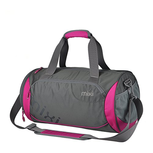 MIXI Unisex Sporttasche Damen Club Team Swoosh Trainingstasche Fußballtasche Rose Red