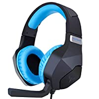 ACMEDE Gaming Headset for PC/PS4/XboxOne Headphone with Mic Control Volume 3.5mm Jack Noise Reduction Stereo Sound Soft Earmuffs