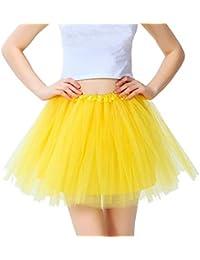 797f61030d289 BigLion 80s Adulte Tutu Pettiskirt D élastique Mini Robe Vintage Années 50  80s Costume Accessories 3-Couche Organza Jupe Jupon Ballet…