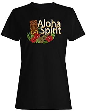 Nuevo Fondo Espíritu Aloha camiseta de las mujeres h219f