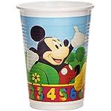Mickey Mouse - Pack de 10 vasos, 9 cm, 200 ml (Color Baby 71766/8962)