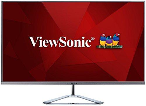Viewsonic VX3276-2K-MHD 80 cm (32 Zoll) Design Monitor (WQHD, IPS-Panel, 3 ms, HDMI, DP, mDP, Pip, Eye-Care, Multidisplay) Silber-Schwarz