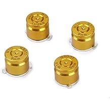 4 X Botones De Bala De Metal Palanca De Mando De Aluminio Fijados Para Ps3 / Controlador PS4 Oro