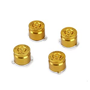 4 x Aluminium Metall Joystick Kugel Schaltflächen Set für PS3 / PS4 Regler Golden