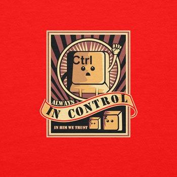 Planet Nerd Always in Control - Herren T-Shirt Rot