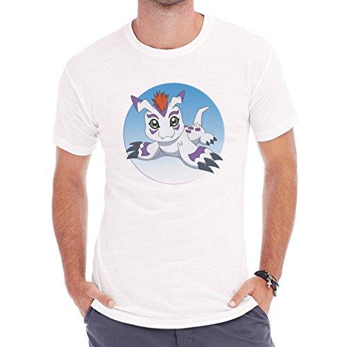 Digimon Gomamon Water Type Circle Digital Herren T-Shirt Weiß