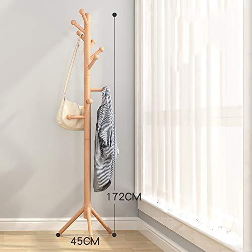 Porte-manteaux Cintre étage cintre chambre cintre vêtements rack en bois massif simple lit bureau simple plancher (Couleur : Woood color)