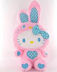 Peluche Hello Kitty DX ColorfulBunny Flashi Collection Rose 38 cm