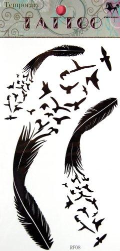 L'Oie de conception de tatouage temporaire SPESTYLE imperméable non - toxique et tatouages temporaires feathertemporary