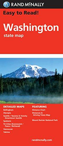 Rand McNally Easy to Read Washington State Map