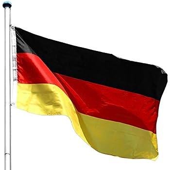 flagmaster alu fahnenmast 6 5m deutschlandfahne komplettset 5fach h henverstellbar 3 jahre. Black Bedroom Furniture Sets. Home Design Ideas