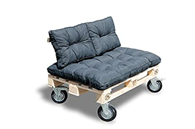 Palettenauflage Panama Rückenkissen Sitzauflage Sofa Sessel Palettenkissen von Schwar Textilien bei Gartenmöbel von Du und Dein Garten