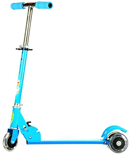Saffire Kids Scooter with Lightning Wheels, Blue