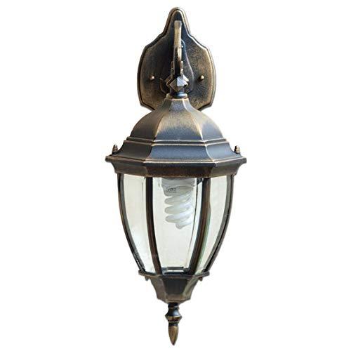 Große Wandlampe Außen E27 rustikal IP44 Gartenlampe Antik Gold 27cm tief Beleuchtung Haus Tür Hof