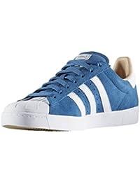 new product 7c3e3 4acf3 Adidas Skateboarding Bb8607 Superstar Vulc Adv Blue White Gold