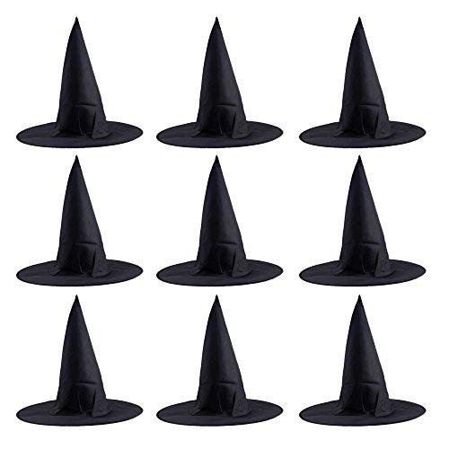 Cappello da strega,beetest® 10 pezzi halloween stregoni streghe hat cappella per adulto,cosplay oxford tessuto cappelli cap per costume accessorio