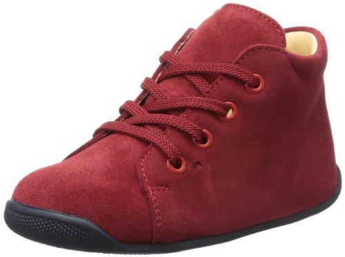 Däumling Polly - Zapatos para Gatear de Cuero bebé - Unisex, Color Rojo, Talla 22