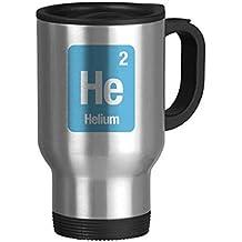 DIYthinker Elemento él Helio química Ciencia Viaje de Acero Inoxidable Jarra de Cerveza Tazas con Asas