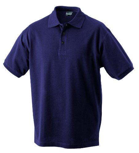 Hochwertiges Polohemd mit Armbündchen Aubergine