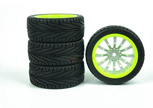 XMY 4x Liner Reifens Tires Felgen fit 1:10 RC On Road Drift Car Tamiya HSP HSP #D7 NEW
