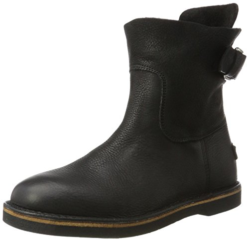 Shabbies Amsterdam Ladies Slip Boots Nero (nero)