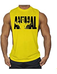 7b28aac6388c59 Cabeen Mens ANIMAL Side Cut Gym Muscle Shirts Stringer Tank Tops  Bodybuilding Workout Tops