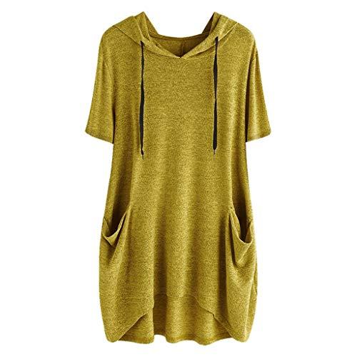 ReooLy top gelb Tops unterhemd hautfarben Oversize übergröße Neckholder ärmellos spaghettiträger samt Kleid schwarz v 1 4 32 34 70 128 134 176 Ausschnitt top Tshirt Damen sexy schwarz Tops