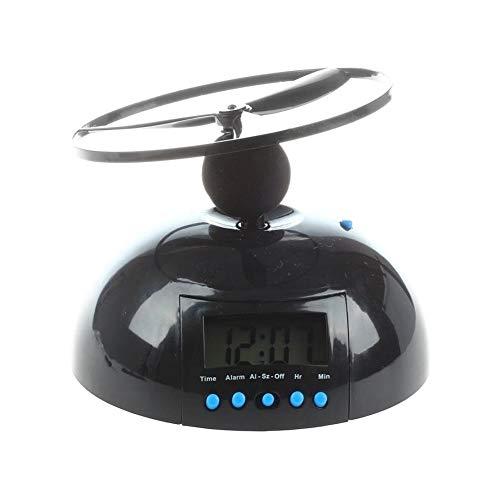 ZKKZ Despertador Mesilla de Noche Sin Hacer tictac Helicóptero Recorrido Ruidoso Despertador Ligero