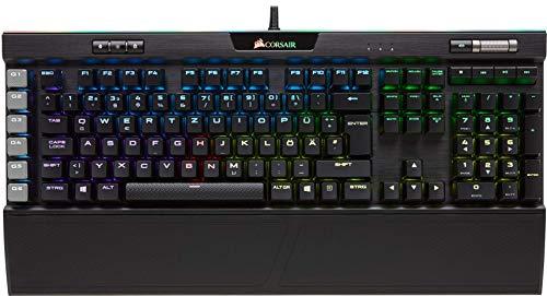 Corsair K95 RGB Platinum Mechanische Gaming Tastatur (Cherry MX Speed: Schnell und Hochpräzise, Multi-Color RGB Beleuchtung, Qwertz) schwarz -