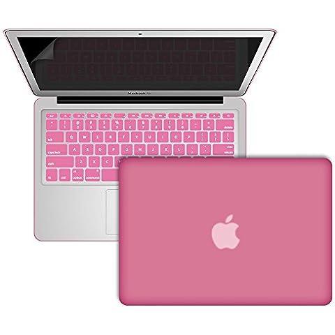 SlickBlue AIR 11 pulgadas recubierto de goma duro caso y Protector de pantalla para Apple MacBook Air de 11,6 pulgadas (modelos: A1370 & A1465) -(Bebé