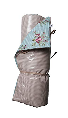 A.U MAISON Picknickdecke Flora 140x180cm mit Streifen und Punkten