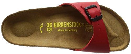 Birkenstock Madrid, Mules Étroit Rouge