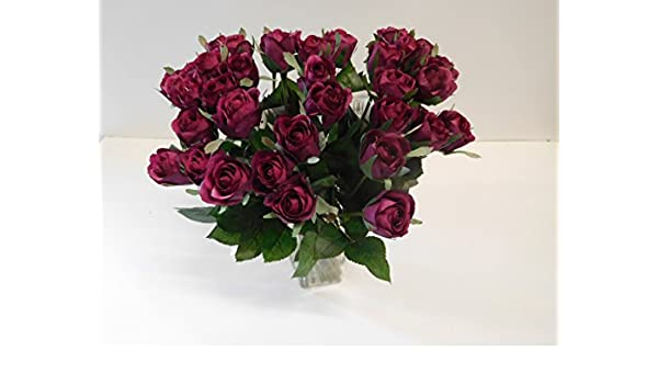 10 x Rose Edelrose  pink  Kunstblumen Seidenblumen