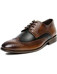 San Frissco Men's Leather Brogue Shoes