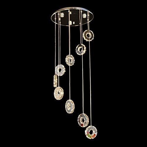 LINA-Camera / ristorante / hotel / sala / club / regalo Lampadario di cristallo di diamante Flash (ø 450x2000mm)