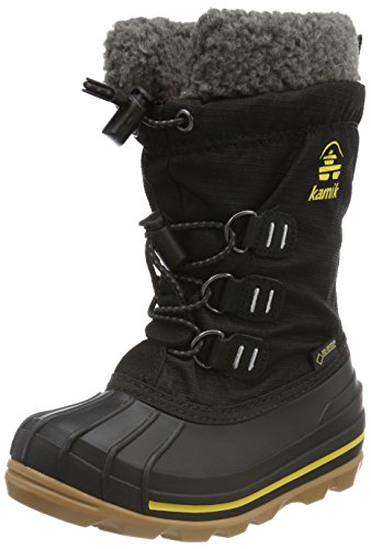 Kamik Unisex-Kinder CARMACKGTX Schneestiefel, Schwarz (Black/Yellow-Noir/Jaune Byl), 29 EU -