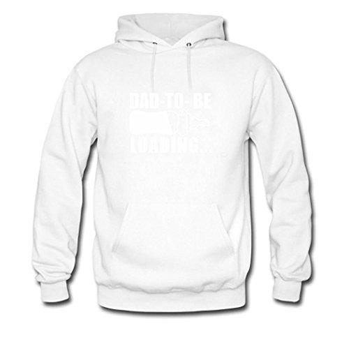 weileDIY Dad 2018 Loading DIY Custom Women's Printed Hoodie Sweatshirt White_B