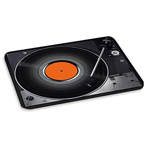 Reproductor RECORD diseño de tocadiscos antiguo 3 pc toma de ordenador - conversor de discos de vinilo alfombrilla para ratón de grifo de plataformas DJ
