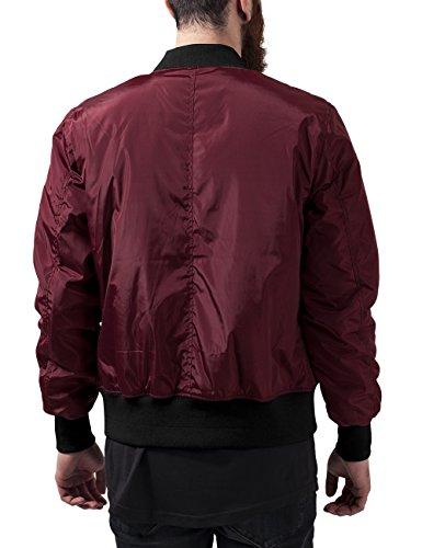 Urban Classics 2-Tone Bomber Jacket, Blouson Homme Multicolore - Mehrfarbig (Burgundy/Black 619)