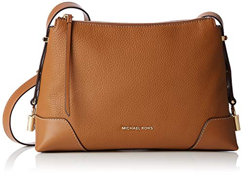 Michael Kors Damen Crosby Medium Messenger Business Tasche, Braun (Acorn), 10.1x20.3x29.85 cm -