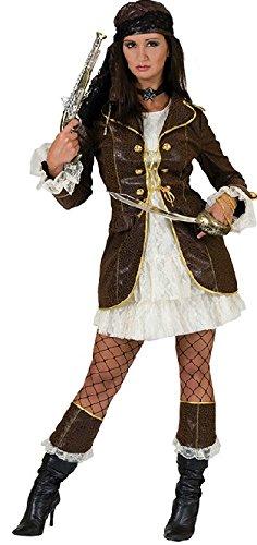 Sexy Karibik Piraten Lady Karneval Kostüm 40/42 + Säbel und Pistole