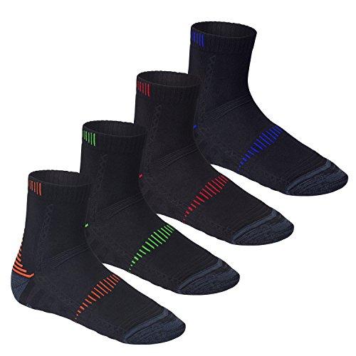 CFLEX 4 Paar Original low-rise Performance Funktions-Socke mit Klima- und Dämpfungs-Funktion in 4 Farben, Größe 39-42
