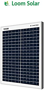 Loom Solar 20 Watt - 12 Volt Solar Panel for Home Lighting & Small Battery Char